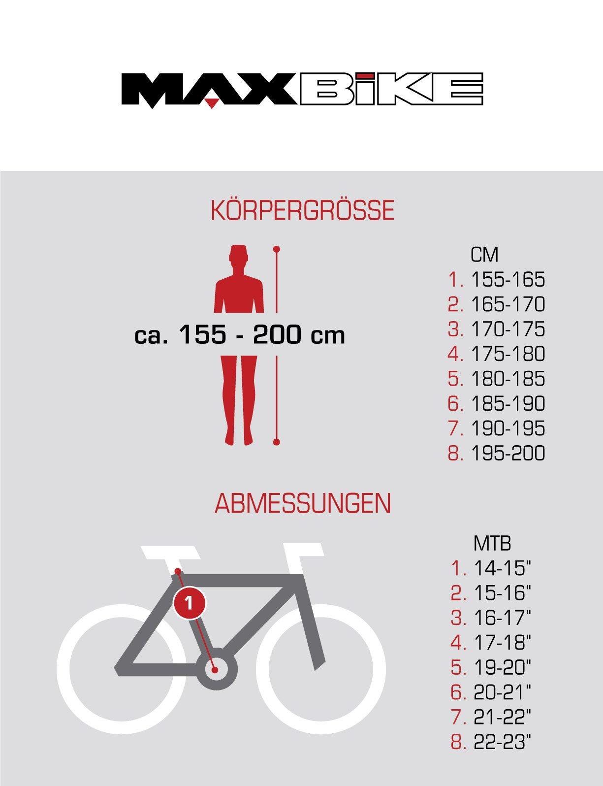 "BIKE SPORT LIVE ACTIVE Bikesport Attack Bicicletta da Montagna Mountainbike 29"" Shimano 21 cambios (Nero Opaco, 480)"
