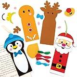 Baker Ross Kits de Marque-Pages de Noël (Paquet de 6) - Loisirs créatifs et Accessoires de Noël pour Enfants