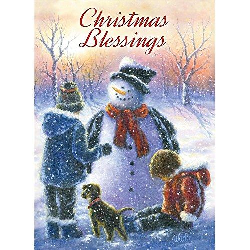 Legacy Publishing Group Deluxe mit Box Holiday Grußkarten mit Schrift, Chubby Schneemann Kinder (hbx41030) - Box Volkskunst