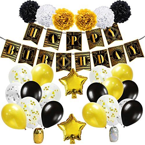ko - 1920er Jahre Jahrgang Geburtstag Party Zubehör Dekorationen Der große Gatsby Thema ()