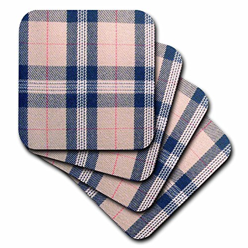 rtans – Beige Tartan Muster Preppy Plaid – Creme Schwarz Rot – Hellbraun Stylisch Braun karierten Modisch Check – Untersetzer, keramik, schwarz, set-of-4-Ceramic (Preppy Plaid)
