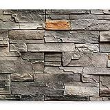 murando - Fototapete Steine 400x280 cm - Vlies Tapete - Moderne Wanddeko - Design Tapete - Wandtapete - Wand Dekoration - Stein Steinoptik Mauer f-B-0063-a-b