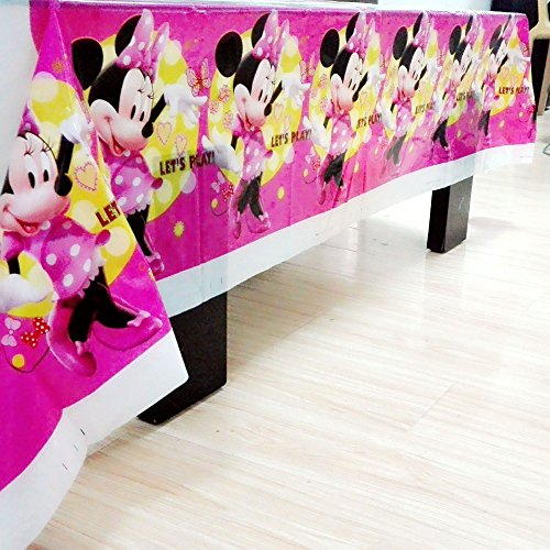 MY PARTY SUPPLIERS Minnie Mouse Table Cover. Premium Quality Minnie Mouse theme Table Cover Minnie Mouse Theme Cloth