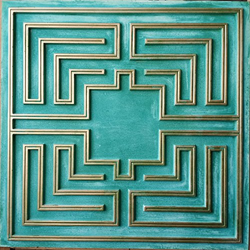 vinyl-ceiling-tiles-cyan-gold-embossed-decor-wall-panels-pl25-pack-of-10pcs