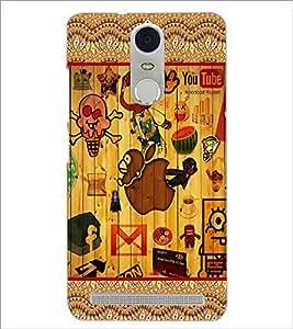 PrintDhaba Graffiti D-5097 Back Case Cover for LENOVO K5 NOTE (Multi-Coloured)