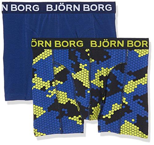 Björn Borg Herren 2P Shorts Bb Camo Boxershorts, Blau (Total Eclipse 70291), S -