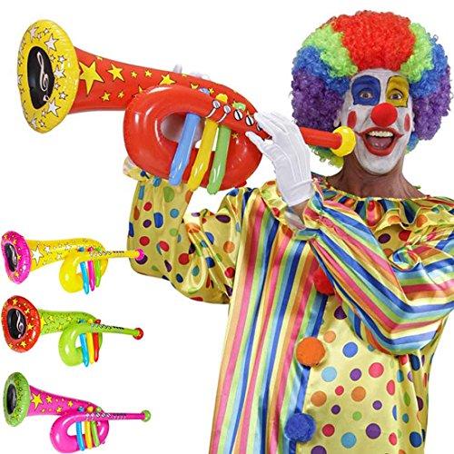 Preisvergleich Produktbild Aufblasbare Tuba Accessoire Clown Kostüm rot Musikinstrument zum Aufblasen Zirkusparty Zubehör Instrumentenimitat Tuba Imitat
