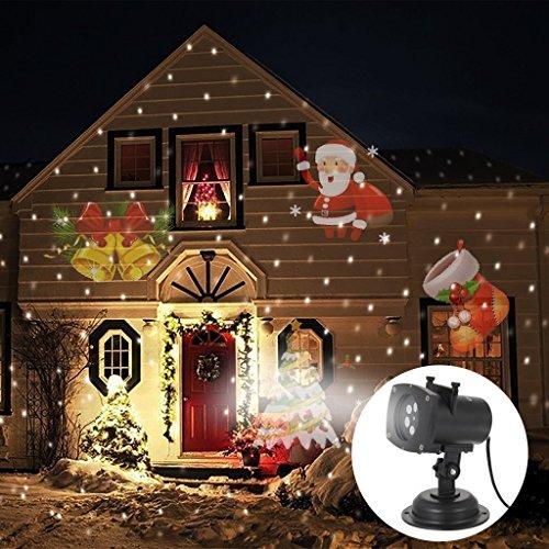 Proyección Luces Navidad Exterior, OxyLED Lámpara de proyección con 12Lentes Intercambiables, 4LED...