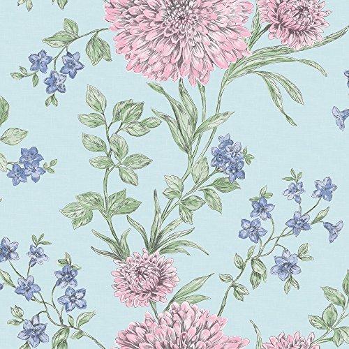 rasch-bordeaux-blumen-muster-blumenmotiv-traditionell-metallische-tapeten-turkis-rosa-208511