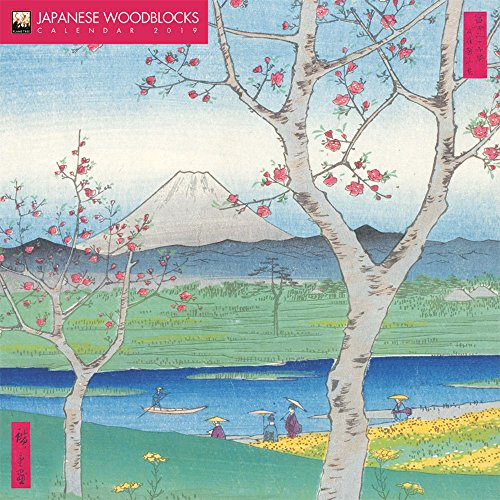 Japanese Woodblocks - Japanische Holzschnitte 2019: Original Flame Tree Publishing-Kalender (Wall Calendar) por Inc Browntrout Publishers