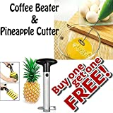 Buyerzone Coffee Beater And Pineapple Cutter Combo Pack