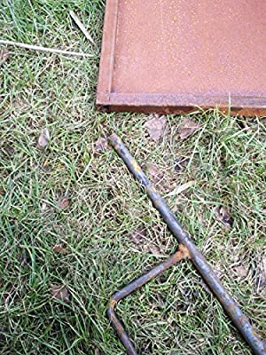 Zen Man Edelrost Garten Sichtschutz aus Metall Rost Gartenzaun Gartendeko edelrost Sichtschutzwand 150 * 75 cm 101578 von Zen Man auf Gartenmöbel von Du und Dein Garten