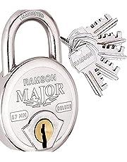 RAMSON Major Deluxe 7 Lever Steel Lock ( Heavy Duty) With 5 Keys ( 67mm )