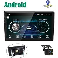 Autoradio GPS Navigation Stéréo Lecteur Camecho 2 Din 10 '' Écran Tactile Bluetooth WiFi FM Récepteur Mobile Téléphone Miroir Lien avec Double USB + Caméra de Vision arrière