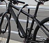 Crops Pro K4-66 Stahlkettenschloss - Extra gehärtete 6x6mm Stahlkette - 110cm lang - Diebstahlsicherung - Fahrrad Scooter Motorrad -