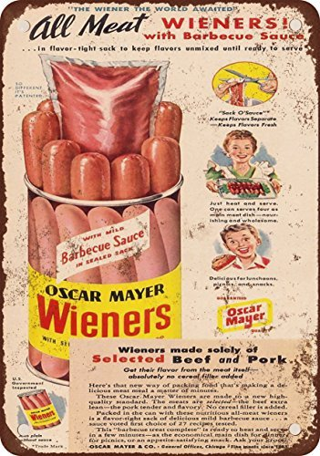 1948-oscar-mayer-wieners-aspecto-vintage-reproduccion-metal-tin-sign-7-x-10-pulgadas