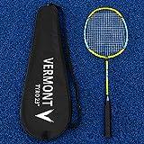 Vermont Tyro Badminton Schläger | 21', 23' & 27' Schläger | Stahl-und Aluminium Konstruktion | Extrem langlebig | Blau & gelb Design | Badminton Schläger für Anfänger (23' (Junior))