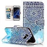 Samsung Galaxy S7 Edge Handyh�llen Leder, Samsung S7 Edge Case silikon, Nnopbeclik�  Ganzk�rper-Schutzh�lle mit Magnetverschluss Kartenhalter H�ll Galaxy S7 Edge 360 Bild