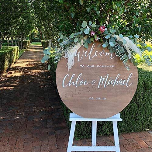 Wandtattoo Willkommen auf unserer für immer Hochzeit Dekoration personalisierte Braut Bräutigam Name Aufkleber benutzerdefinierte Datum romantisches Dekor -