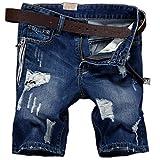 E.YUE Herren Denim Jeans Kurze Shorts Sommer 5-Pocket Stil#682 (32)