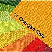 OXFORD 600D Colore 11 arancione-giallo stoffa in poliestere 1 lfm OUTDOOR impermeabile resistente agli strappi robusto PVC tela Tenda Zaino Borsa