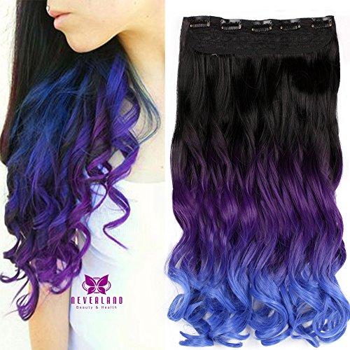 Hot Besten Brush Hair (Neverland Dip Dye Ombre Extensions Clip In Extensions Echthaar Haarverlängerung Haarteile Bunte)