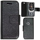 Zaoma Diary Type Flip Cover for New Nokia 3310 (2017) - Black