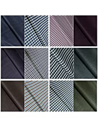 KUNDAN SULZ GWALIOR Men's Unstitched Shirt and Trouser Fabric - Pack of 6 (Assorted)