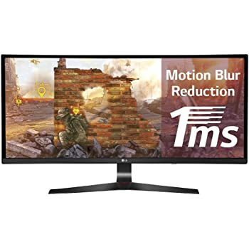 "LG 34UC79G Monitor da Gaming 34"", Curvo, 21:9 UltraWide LED IPS, 2560x1080, 1ms, 144Hz, AMD FreeSync, Multitasking, Regolazione Altezza"