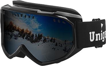 Unigear UV Schutz Skibrille Snowboardbrille Anti-Fog&Wind mit Zylindrische Gläser
