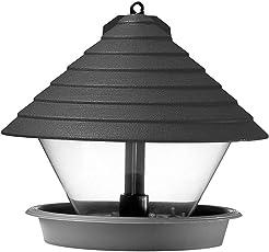 Hammarplast 9325409 Vogelfutterhaus schwarz 27cm Kunststoff, rund, schwarz