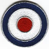 Sew-on Iron-on Embroidered Patch MOD Target British Scooter Lambretta Vespa Badge