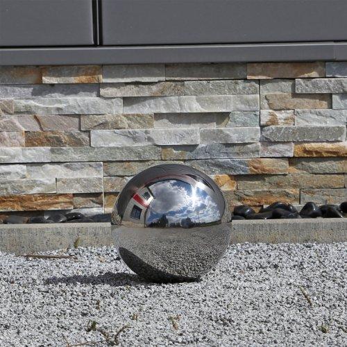 Galleria fotografica Sfera in acciaio inox con un Diametro di 20cm lucidato decorazione per Giardino Balcone Terrazza sfera lucida anche per stagno laghetto cava uso sfera galleggiante