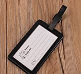 JUNGEN PVC Luggage Tags with Personal Information Record Card 6.5x10.5cm 4-Pack