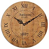 Studio Shubham Paris Roman Numbers Wooden Wall Clock(29cmx29cmx3cm) PWC-40