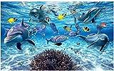 HHCYY 3D-Stereo-Unterwasserwelt Von Meeresfischen Lebenden Kinderzimmer Tv Hintergrund 3D-Wandbilder120cmx100cm