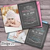 Dankeskarten zur Geburt, personalisierbar für Mädchen und Jungen 50 x invitations Design 17