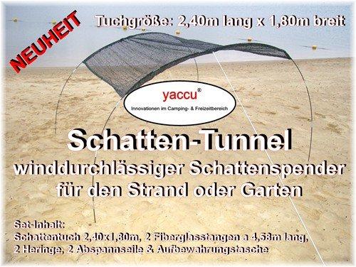 YACCU WINDRESISTENTER STRAND-SCHATTEN-TUNNEL 2,40 x 1,80 m