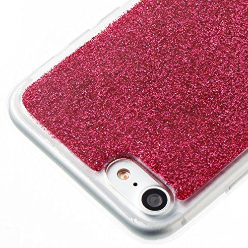 iPhone 7 Hülle, Voguecase Silikon Schutzhülle / Case / Cover / Hülle / TPU Gel Skin für Apple iPhone 7/iPhone 8 4.7(Dijiao Glitzer-Grün) + Gratis Universal Eingabestift Dijiao Glitzer-Rot