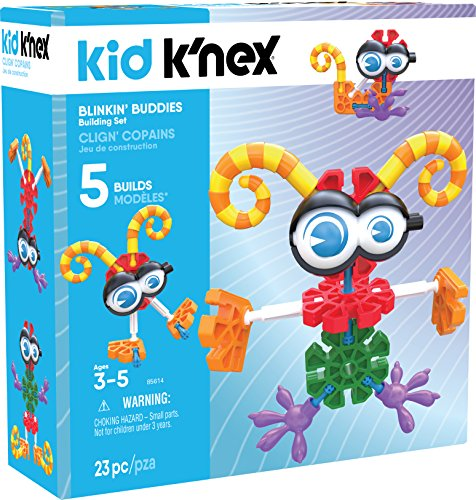 Kid K�NEX Blinkin� Buddies Building Set for Ages 3 and Up, Preschool Educational Toy, 23 Pieces
