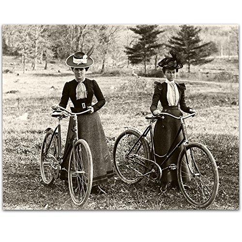 Lone Star Art Fahrrad Riders Viktorianischen Frauen Jahre Vintage Foto-11x 14ungerahmt-Perfekt Home Decor Oder Geschenk für Weiblich Bicyclists