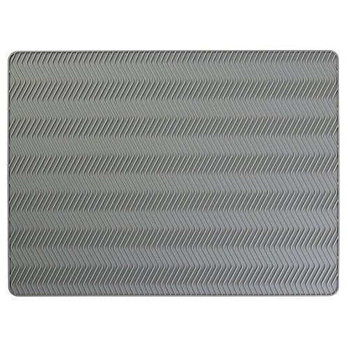 InterDesign 63713EU Chevron in silicone, Scolapiatti, grande, grigio
