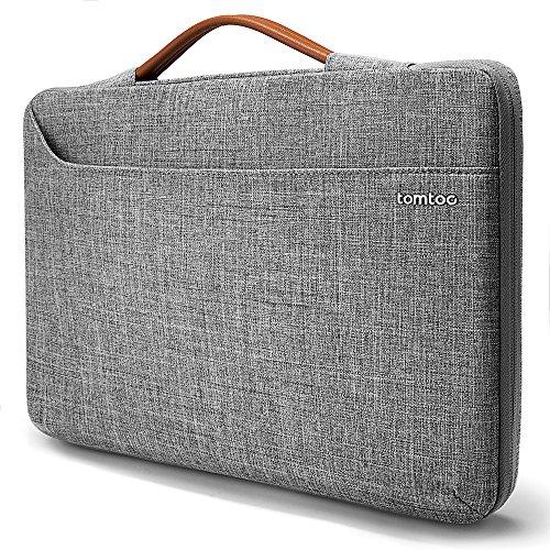 tomtoc 360° Laptop Aktentasche Schutzhülle für 15 bis zu 15,6 Zoll Acer HP Dell ASUS Lenovo Samsung Chromebook, Universal Notebook Tragetasche, Grau (15 Case Laptop Alienware)