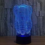 DENGS 3D Illusion Lampe LED Nachtlicht Zahnform 7 Farben USB aufladen Wohnkultur Schlafzimmer , Bild farbe