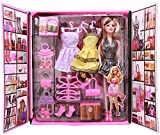 Babytintin Party Doll and Her Personal Style Wardrobe Set with different lifestyle accessories
