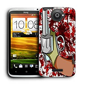 Snoogg Pistol White Designer Protective Back Case Cover For HTC ONE X