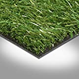 Kunstrasen Rasenteppich Fertigrasen mit Drainage 23mm grün 200 und 400 cm breit, verschiedene Längen, Variante: 2 x 2 m
