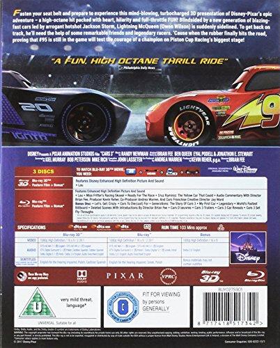 Cars 3 [Blu-ray 3D] [2017] [Region Free]