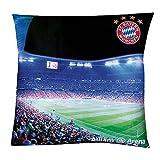 Kissen Allianz Arena FC Bayern München FCB + gratis Aufkleber, pillow, almohada, oreiller