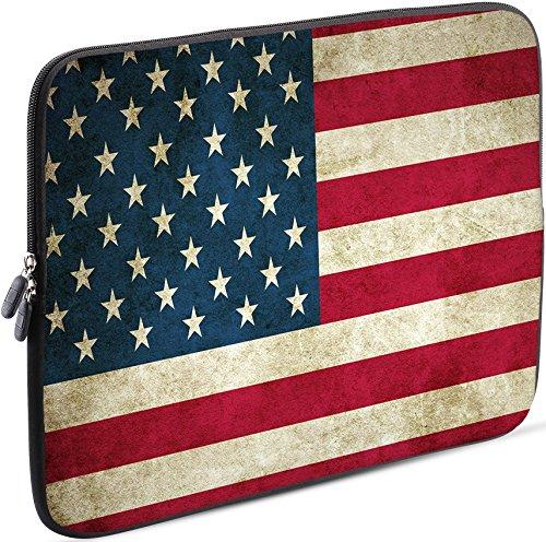 Sidorenko Tablet PC Tasche für 10-10.1 Zoll | Universal Tablet Schutzhülle | Hülle Sleeve Case Etui aus Neopren, Rot/Blau
